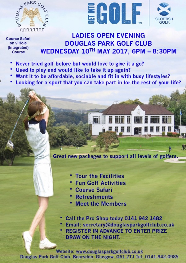 Ladies Open Evening - 10th May