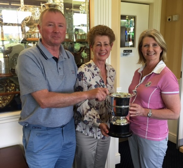 Janice and Callum with Lady Captain Christina